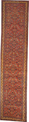 A Bidjar runner size approximately 3ft. 11in. x 17ft. 4in.