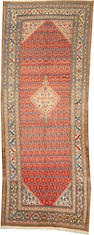 A Malayer long carpet  size approximately 5ft. 4in. x 14ft.