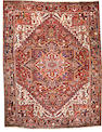 A Heriz carpet  size approximately 8ft. 9in. x 11ft. 2in.