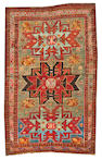 A Caucasian rug  size approximately 3ft. 10in. x 6ft.
