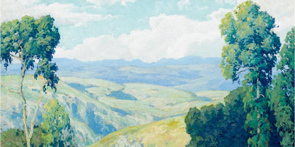 Maurice Braun (American, 1877-1941) California vista 34 x 34in overall: 42 1/2 x 42 1/2in