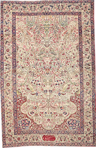 A Lavar Kerman rug  size approximately 4ft. 9in. x 7ft. 4in.