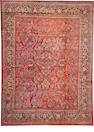 A Sarouk carpet  size approximately 10ft. 1in. x 13ft. 8in.