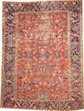 A Heriz carpet  size approximately 8ft. 6in. x 11ft. 4in.