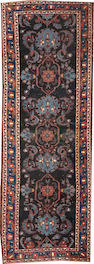 A Malayer runner  size approximately 3ft. 6in. x 9ft. 10in.