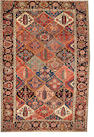 A Bakhtiari rug size approximately 7ft. 2in. x 9ft. 11in.