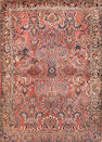 A Fereghan Sarouk rug size approximately 3ft. 3in. x 4ft. 7in.