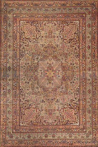 A Lavar Kerman carpet  size approximately 10ft. x 14ft. 6in.