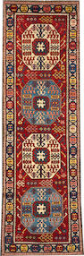 A Kazak runner  size approximately 3ft. 2in. x 10ft. 2in.
