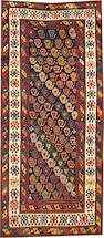 A Kazak rug  size approximately 3ft. 7in. x 8ft.