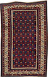 A Kuba rug  size approximately 4ft. 1in. x 6ft. 5in.