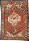 A Karadja rug size approximately 4ft. 2in. x 6ft. 3in.