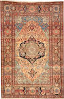 A Mohtasham Kashan rug size approximately 4ft. 4in. x 6ft. 4in.