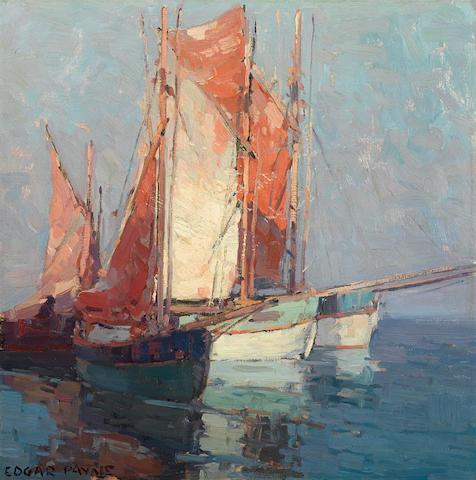 Edgar Payne (1883-1947) French sailboats 20 x 20in