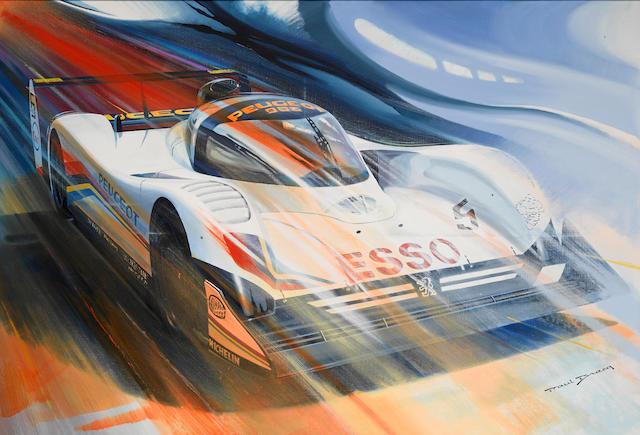 Paul Bracq: Peugeot 905, 52 x 36 ins.