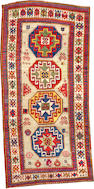 A Kazak rug  size approximately 4ft. 3in. x 9ft.
