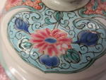 A pair of famille rose enameled export baluster jars and covers Yongzheng