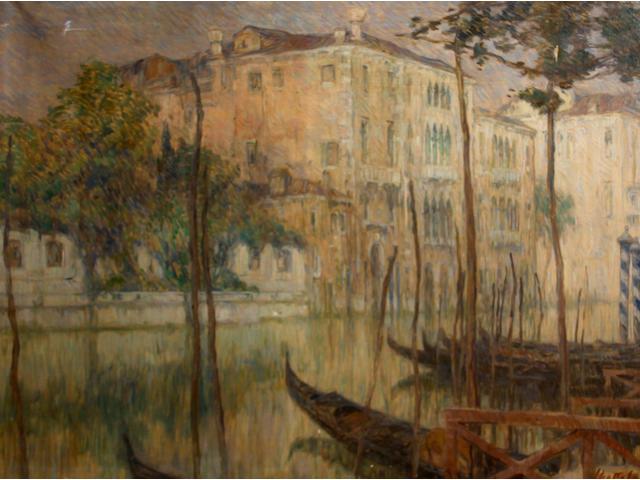 Ferruccio Scattola (Italian, 1873-1950) Venice 40 x 54 1/2in