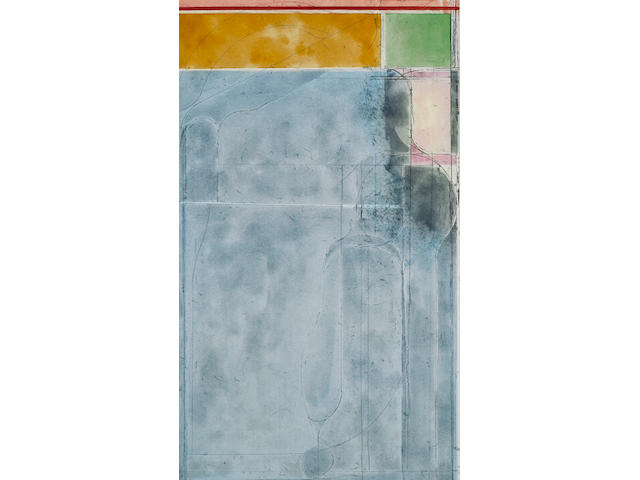 Richard Diebenkorn (1922-1993); Large Light Blue, from Eight Color Etchings;