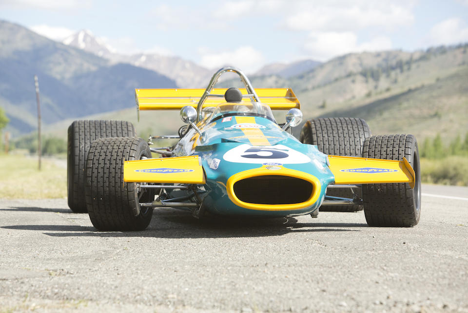 <i>The ex-Sir Jack Brabham, Ron Tauranac-designed, and South African Grand Prix-winning</i><br /><b>1970 BRABHAM-COSWORTH FORD  BT33 FORMULA 1 RACING SINGLE-SEATER</b><br /> Chassis no. BT33-2 <br />Engine no. DFV 061