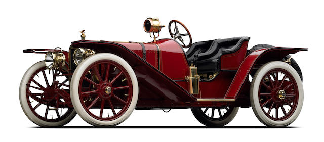 <i>The F.C. Deemer, Honeymoon Roadster, ex-Dick Teague and W.K. Haines</i><br /><b>1907 American Underslung 50hp Roadster  </b><br />Engine no. 1402