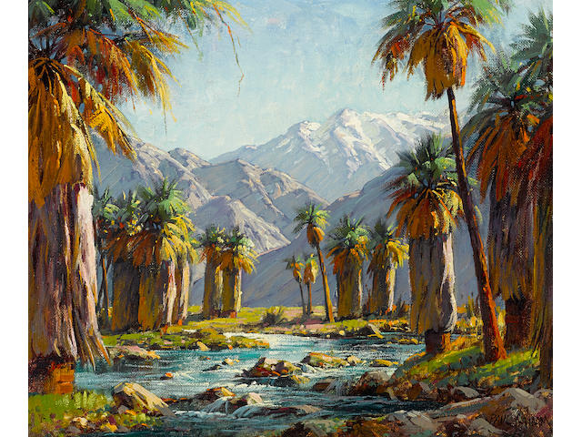 Paul A. Grimm (American, 1891-1974) Palm canyon 20 x 24in