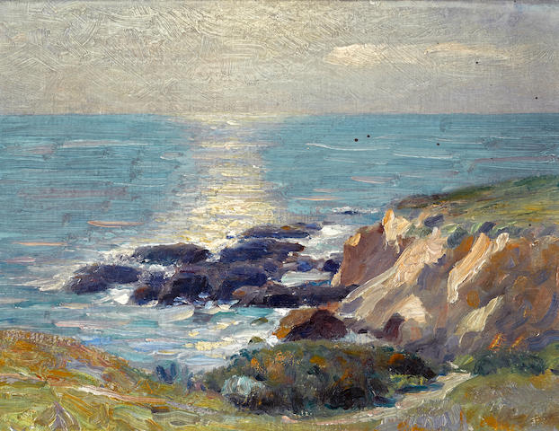 Attributed to Ernest Martin Hennings (1886-1956) Coastal rocks; Van Cortland Park (a pair) each 12 x 16in