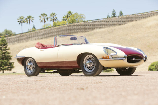 "<b>1964 JAGUAR E-TYPE ""BOUILLOT HELSEL"" ROADSTER  </b><br />Chassis no. 860402 <br />Engine no. R5016-9"