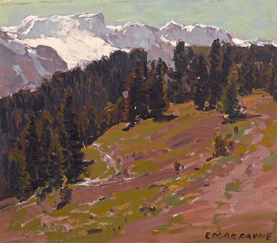 Edgar Payne (1883-1947) French Alps 12 1/4 x 14in overall: 19 1/4 x 21 1/4in