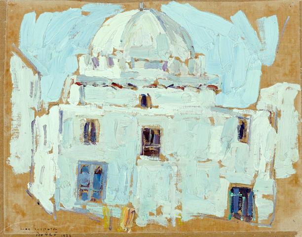 Leon Schulman Gaspard (Russian/American, 1882-1964) Rabat 10 x 13in overall: 13 1/4 x 16in