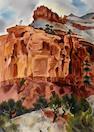 Gene (Alice Geneva) Kloss (American, 1903-1996) Escalante Canyon 29 1/4 x 21in overall: 37 1/4 x 29in