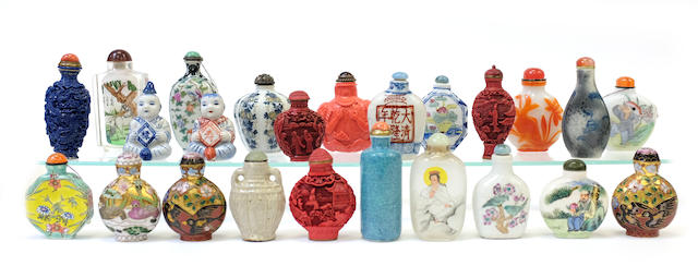 An assembled group of Chinese snuff bottles