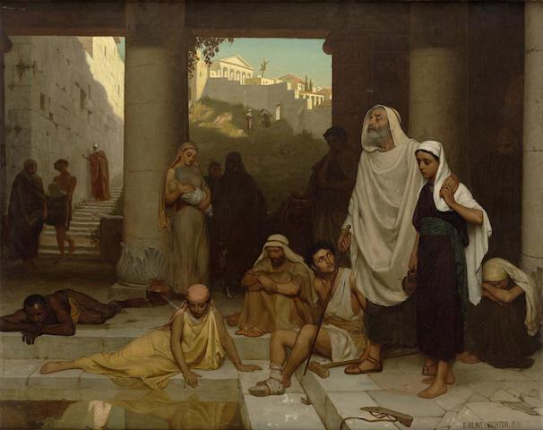 Edmund Blair Leighton (British, 1852-1922) The blind man at the Pool of Siloam 40 x 50 1/4in (101.6 x 127.6cm)