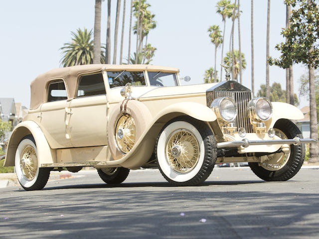 Delivered new to Jack Warner of Warner Bros. StudiosFormerly property of Matt & Barbara Browning,1929 Rolls-Royce Phantom I Convertible Sedan  Chassis no. S319KP Engine no. 20198