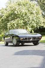 <i>The ex-Bobbie Gentry, Amelia Island Concours Award winning</i><br /><b>1967 MASERATI GHIBLI 4.7-LITER COUPE </b><br />  Chassis no. AM115.090 <br />Engine no. AM115.090