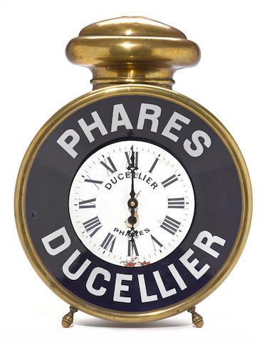 A rare Phares Ducellier advertising clock, circa 1900,