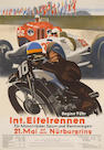 A 1935 Nurbergring event poster after Alfred Hieri,