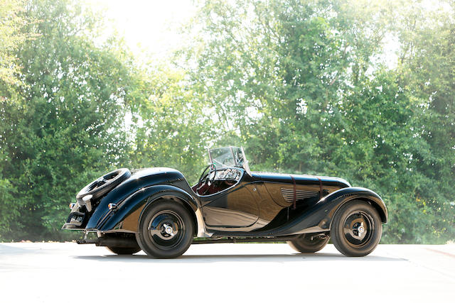 <i>Formerly in the collection of Dr. Frederick A. Simeone</i><br /><b>1937 BMW 328 ROADSTER  </b><br />Chassis no. 85095 <br />Engine no. 85095
