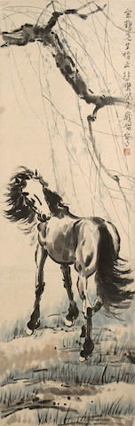 Xu Beihong (1895-1953)  Horse and Willow, 1943