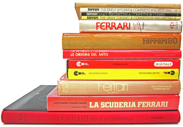 A collection of Ferrari titles,