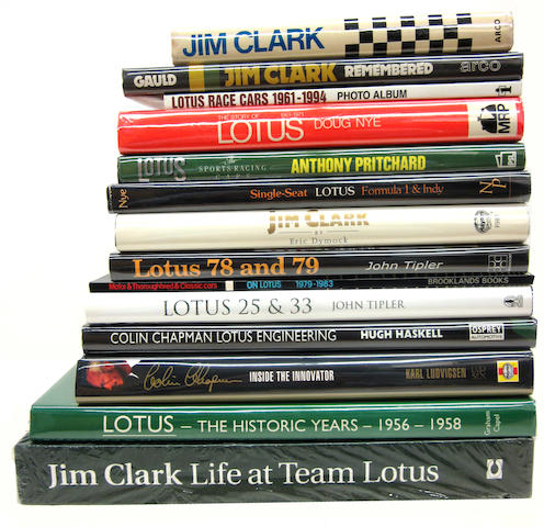 A interesting grouping of Lotus racing titles,