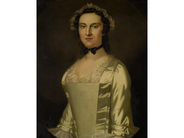 Attributed to John Wollaston (English, ca. 1710-1775) Portrait of a Lady (Possibly Maria Morris)