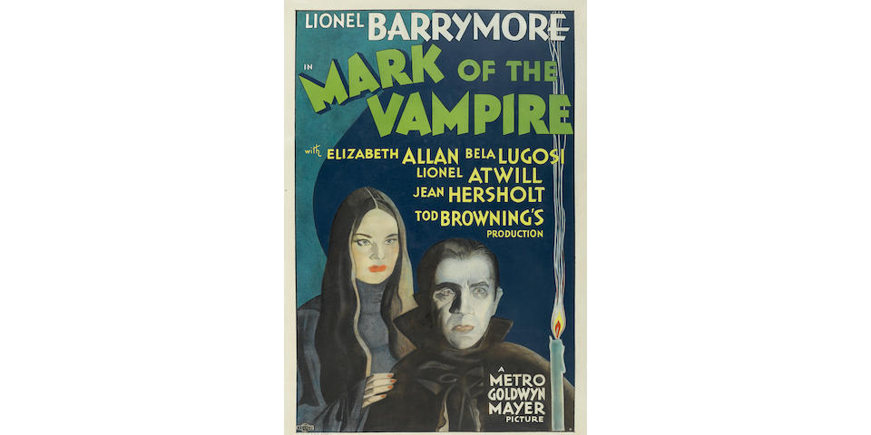 An original one sheet poster for The Mark of the Vampire (1935), starring Bela Lugosi