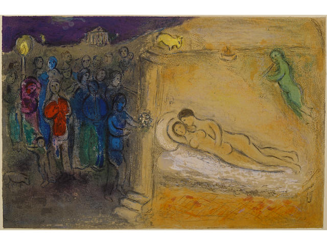 Marc Chagall (Russian/French, 1887-1985); Hymen, from Daphnis and Chloé ;