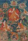 A thangka of Sakya Pandita Tibet, 18th century