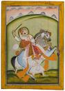 An equestrian portrait of Shri Damodarji II Mewar, mid 19th century