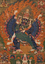 A large thankga of Vajrabhairava Tibet, 18th century