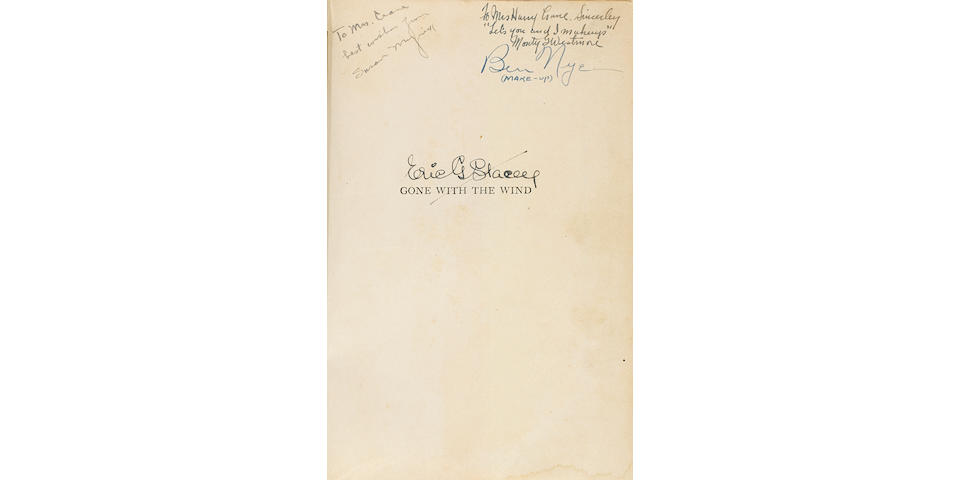 A cast-signed copy of Margaret Mitchell's Gone With the Wind