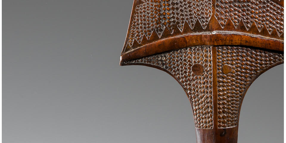 Fine and Rare Parrying Shield, Tonga Islands