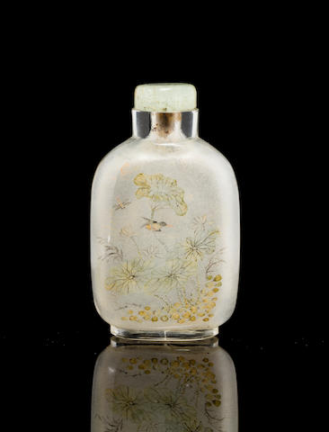 An inside painted glass snuff bottle    Ma Shaoxuan, 1894